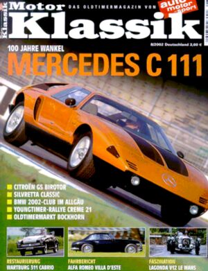 Titel Motor Klassik, Heft 08/2002