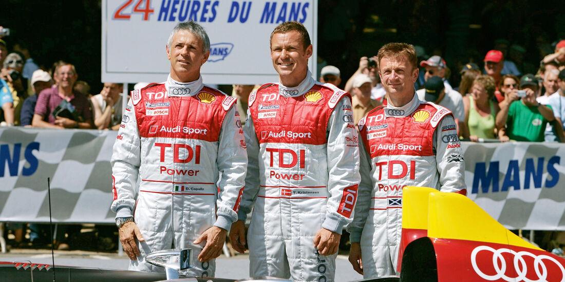 Tom Kristensen, Dindo Capello, Allan McNish, 2008