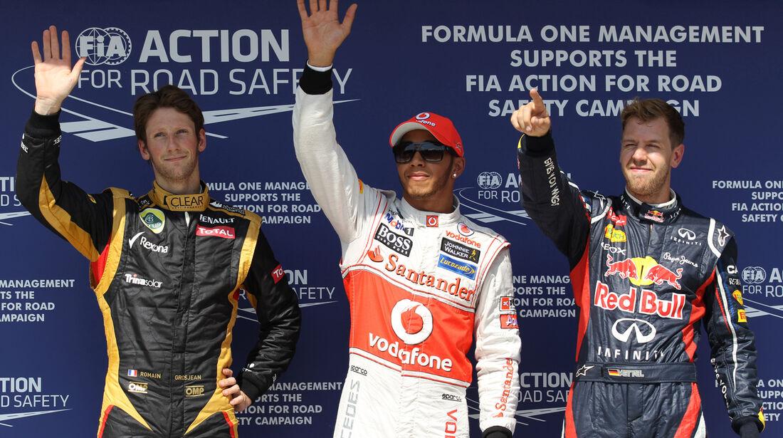 Top 3 Qualifying - Formel 1 - GP Ungarn - Budapest - 28. Juli 2012
