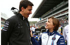 Toto Wolff - Claire Williams - GP Russland 2015 - Sochi - Rennen