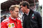 Toto Wolff & Sebastian Vettel - Formel 1 - GP Belgien 2018