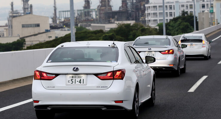 Toyota-Assistenzsysteme, Heckansicht, Test