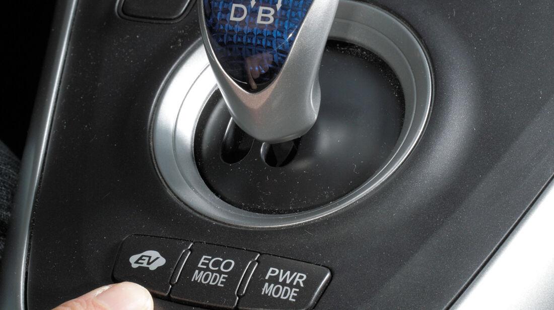 Toyota Auris Hybrid, Mittelkonsole, Gangschalter