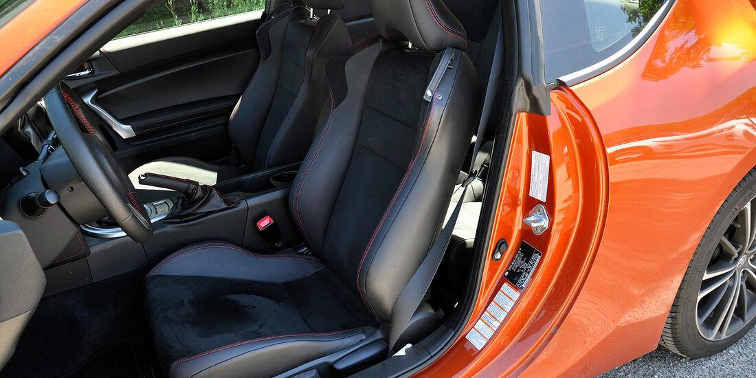 Toyota GT 86, Innenraum, Sportsitze
