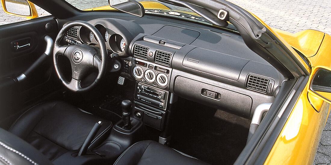 Toyota MR2, Cockpit