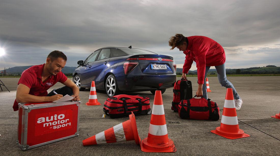 Toyota Mirai, Testaufbau