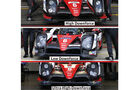 Toyota TS050 Hybrid - WEC - LMP1 - Technik - Vergleich Aero-Kits