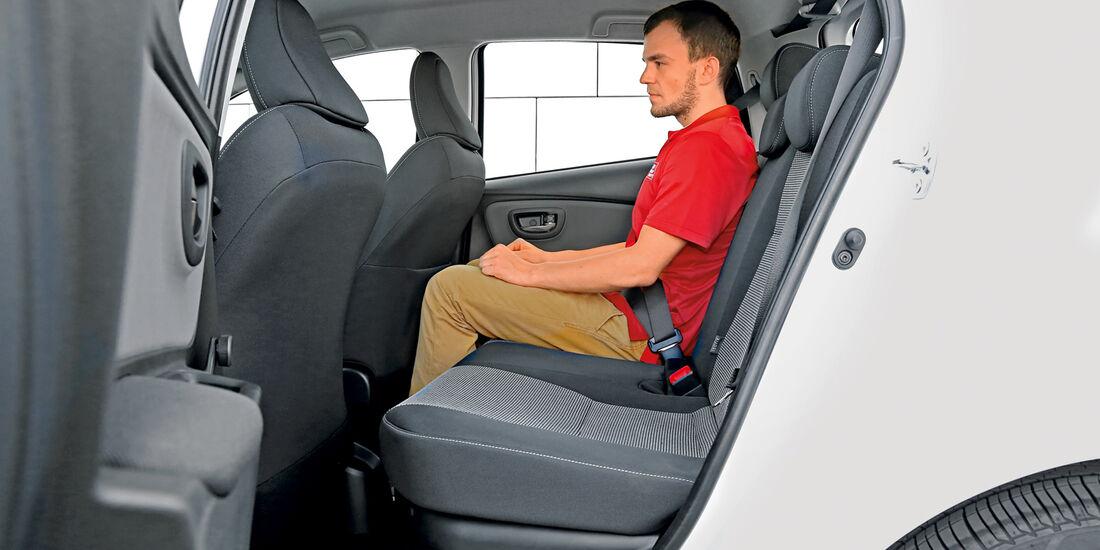 Toyota Yaris 1.5 Hybrid Comfort, Fondsitz, Beinfreiheit