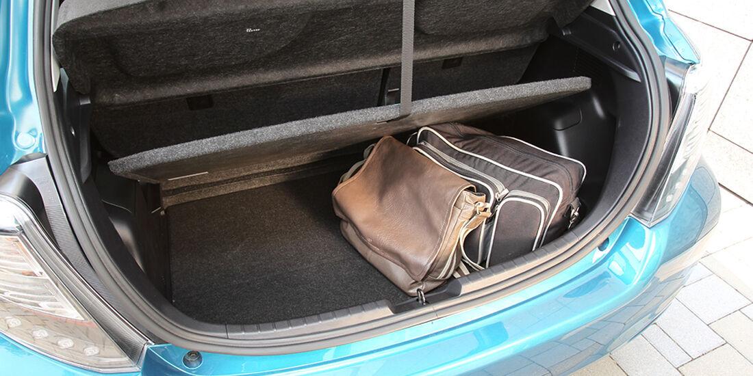 Toyota Yaris, Kofferraum