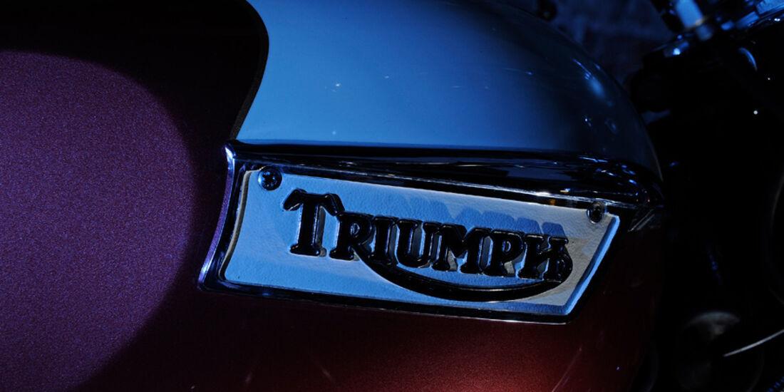 Triumph Bonneville 750, Triumph, Emblem, Schriftzug