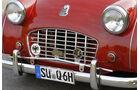 Triumph TR 3, Stoßstange, Frontlicher, Logos,  Detail
