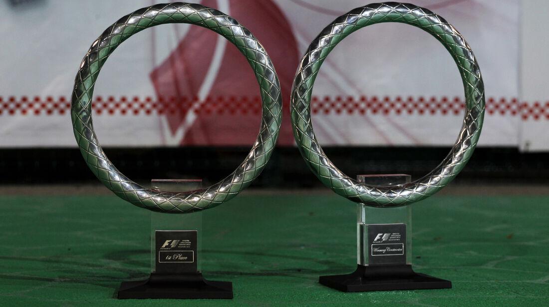 Trophäen - GP Singapur 2012