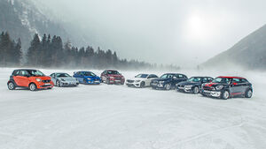 Unterschiedliche Antriebskonzepte auf Schnee