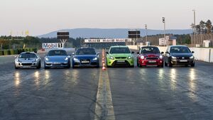 VT Audi TT RS Roadster, Ford Focus RS, Lotus Exige Cup 260, Mini JCW Cabrio, Porsche Boxster S, VW Golf GTI