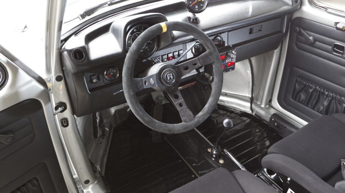 VW 1303 Rallye, Detail, Cockpit, Lenkrad