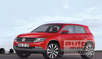 VW Baby-Tiguan, Polo-SUV, Retusche
