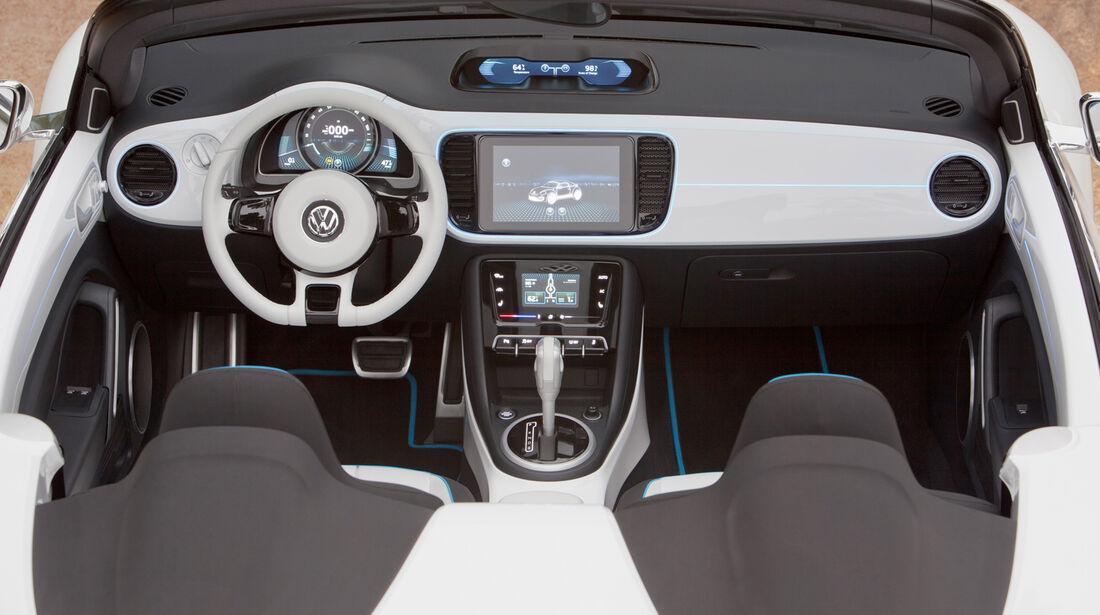 VW E-Bugster, Cockpit, Lenkrad