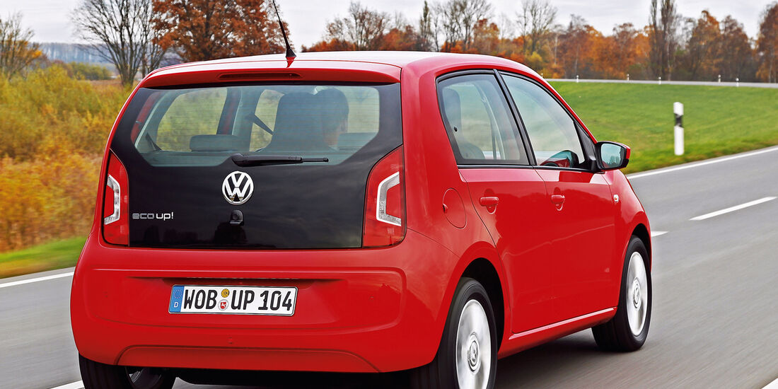 VW Eco Up CNG, Heckansicht