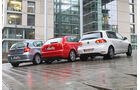 VW Golf 1.4 TSI, Audi A3 1.8 TFSI, BMW 120i