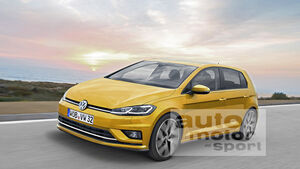 VW Golf 8 Computer-Retusche