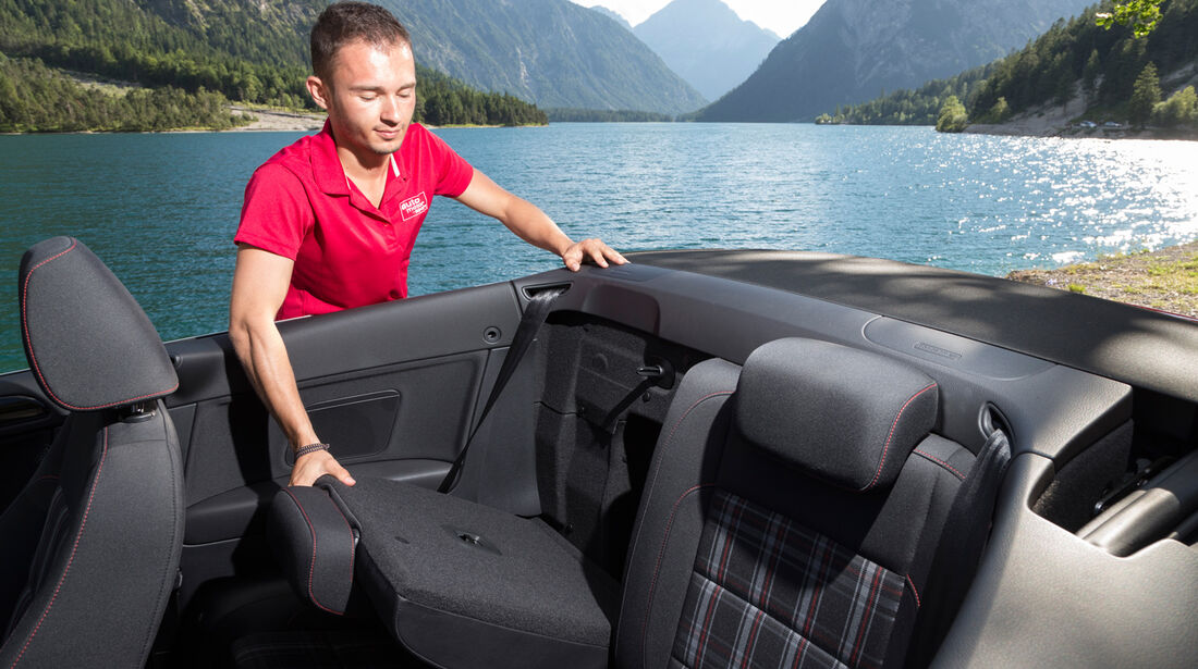 VW Golf Cabrio, Rücksitz, Umklappen