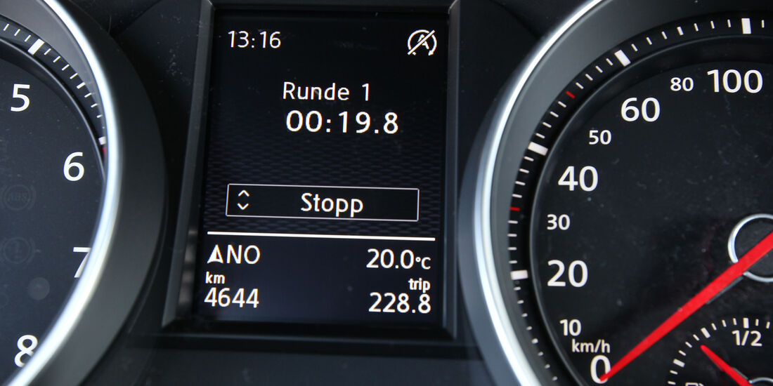 VW Golf GTI, Bordcomputer, Rundenzeit