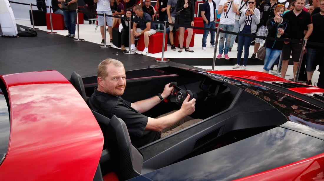 VW Golf GTI Roadster, Sitzprobe, GTI-Treffen 2014