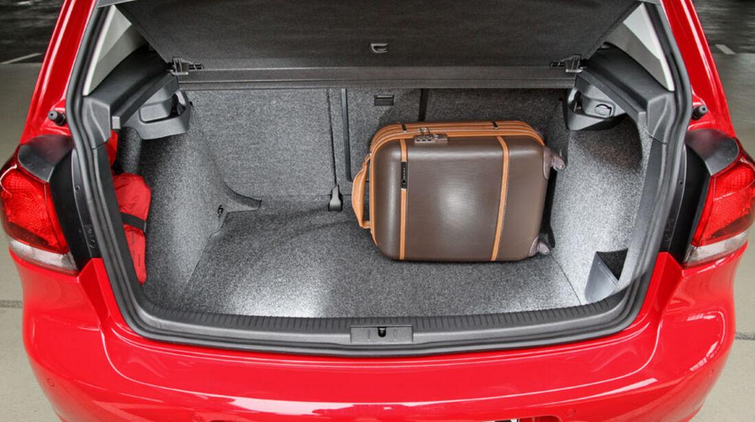 VW Golf, Kofferraum
