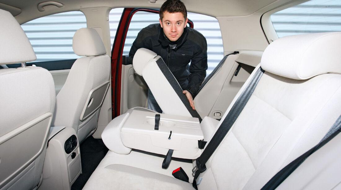 VW Golf Plus 1.4 TSI, Rücksitz, Rückbank