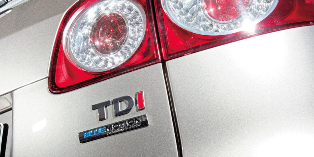 VW Golf Plus 1.6 TDI BMT, Rücklichter, Emblem, Schriftzug