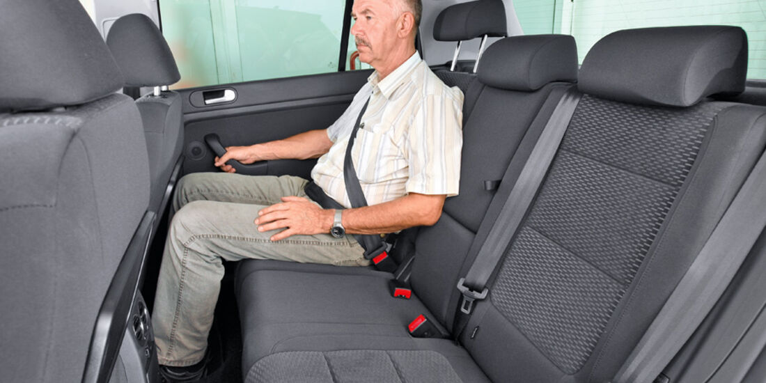 VW Golf Plus 1.6 TDI BMT, Rücksitze, Rückbank