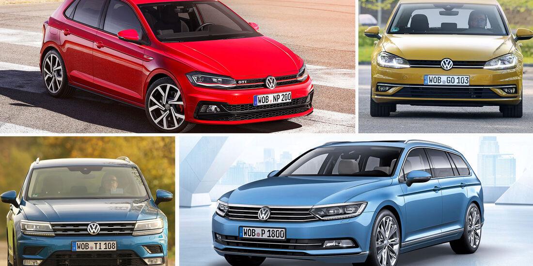 VW Golf, Polo, Tiguan, Passat
