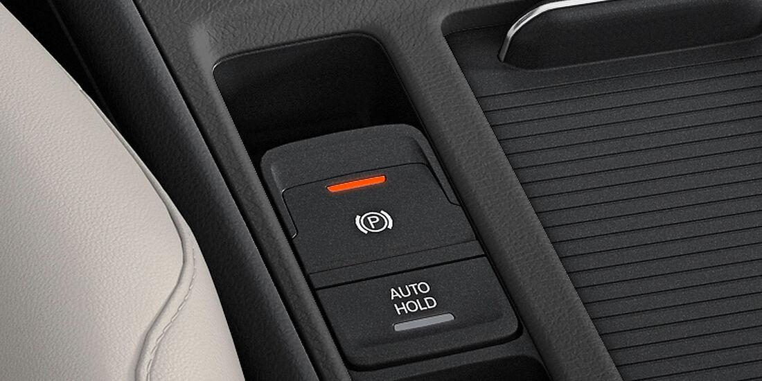 VW Golf VII, Innenraum, elektrische Parkbremse