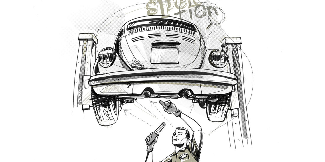 VW Käfer, Unterboden, Aufbereitung