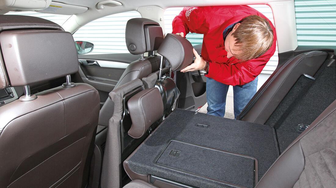 VW Passat 2.0 TDI BMT, Rücksitz, Umklappen