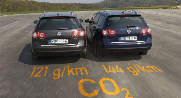 vw passat variant tsi ecofuel und blue tdi: vergleichstest zwischen
