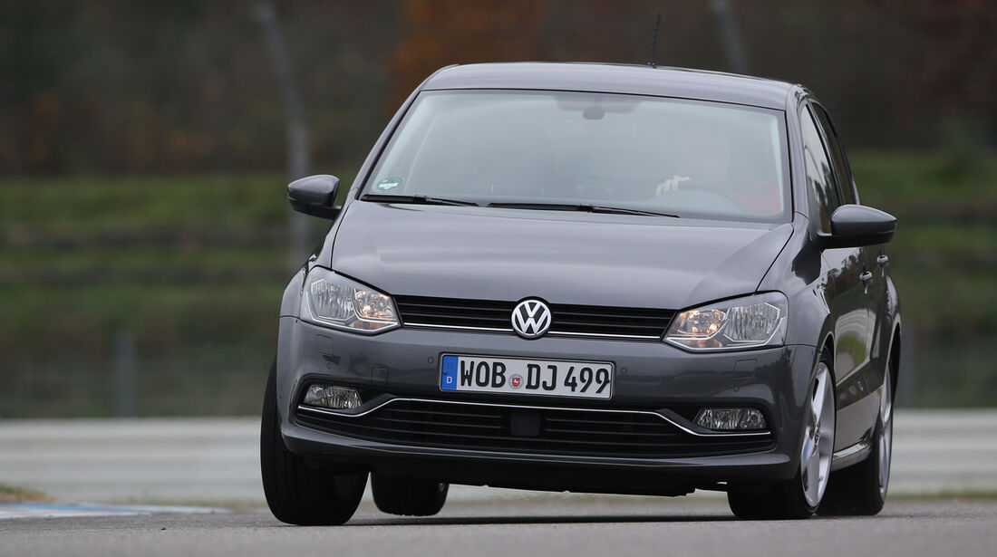 VW Polo 1.2 TSI BMT, Frontansicht, Slalom