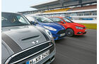 VW Polo GTI, Ford Fiesta ST, Mini Cooper S, Kühlerhauben