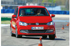 VW Polo GTI, Frontansicht, Slalom