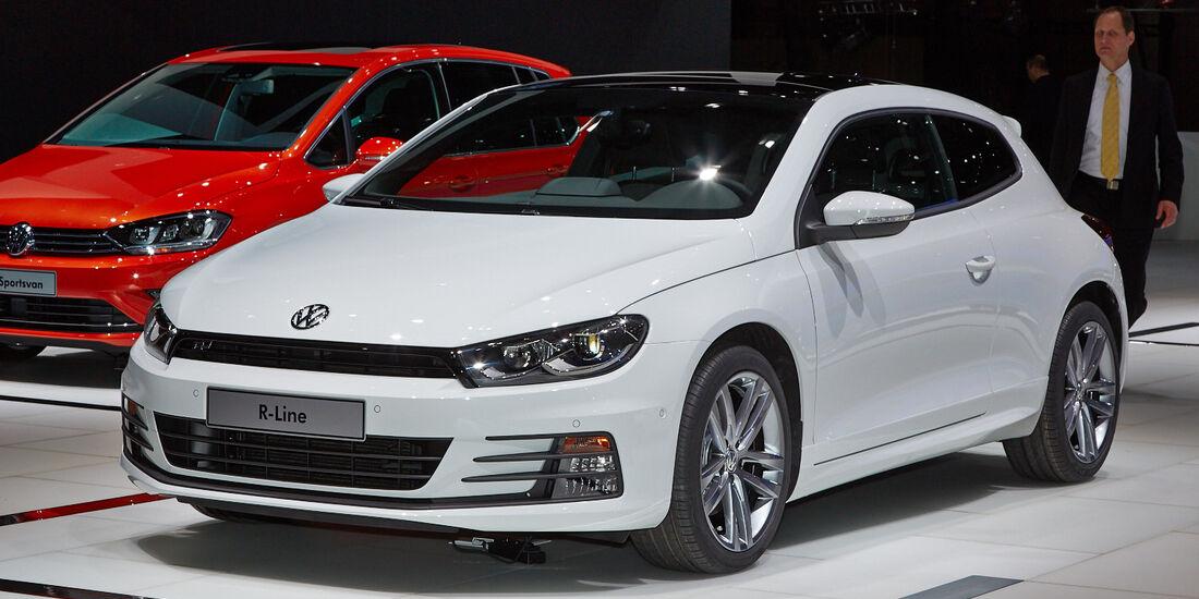 VW Scirocco 2.0 TDI R-Line, Genfer Autosalon, Messe 2014