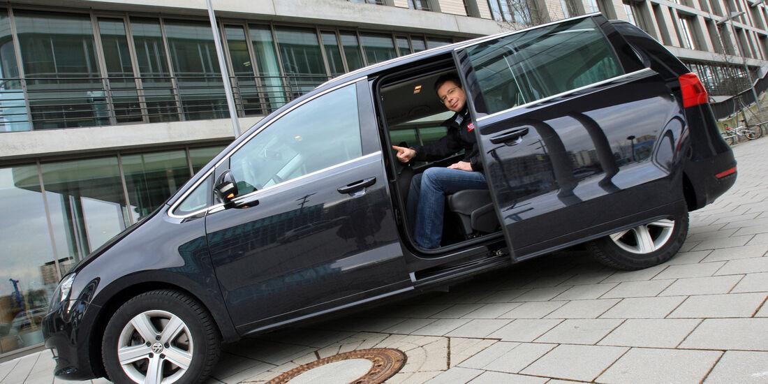 VW Sharan 2.0 TDI, Seite, Schiebetür