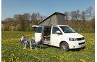 VW T5 California, Camping, Aufstelldach, Frühstück