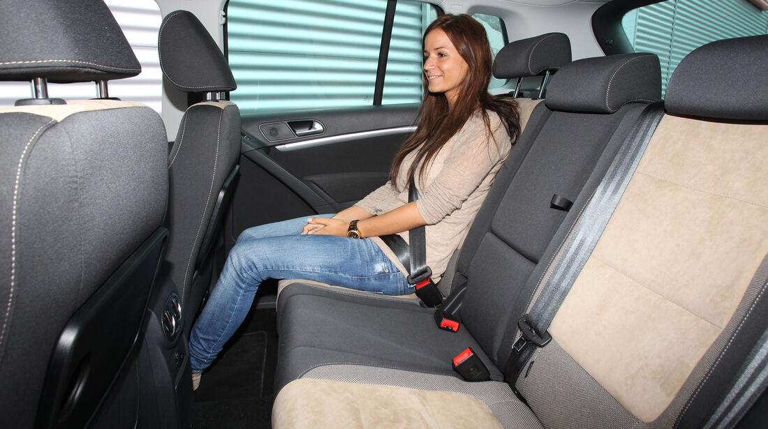 VW Tiguan 1.4 TSI  1.4 TSI 4Motion, Rücksitz, Beinfreiheit