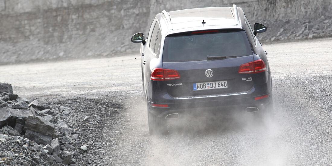 VW Touareg V6 TDI Blue Motion, Heck, Gelände