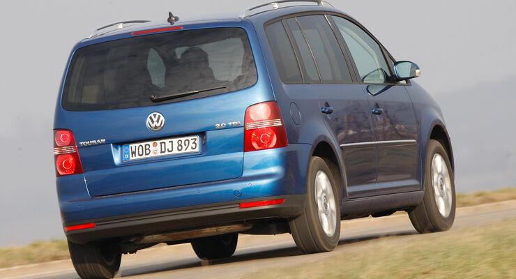 VW Touran 2.0 TDI, Heckansicht