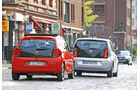 VW Up 1.0 Bluemotion, Citroën C1 Airscape VTi 82, Heckansicht