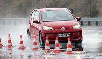 VW Up, Aquaplaning