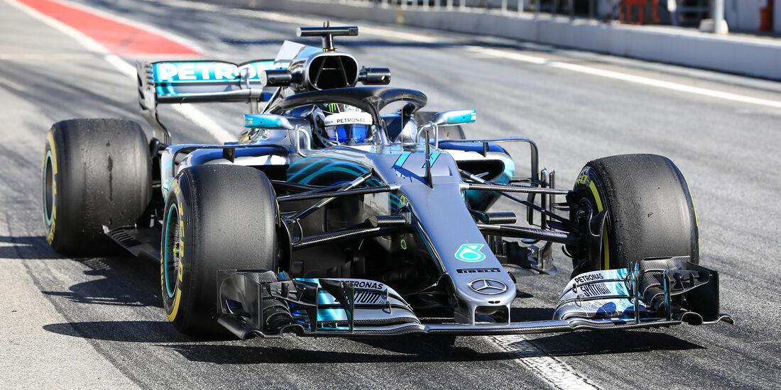 Valtteri Bottas - Mercedes - F1-Test - Barcelona - Tag 5 - 6. März 2018