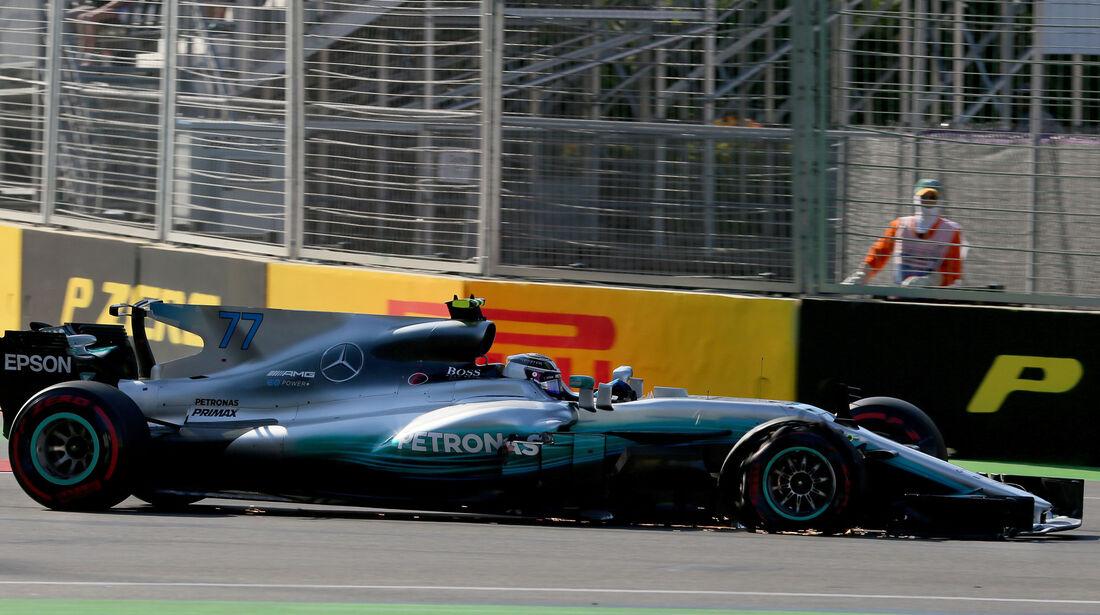 Valtteri Bottas - Mercedes - GP Aserbaidschan 2017 - Baku - Rennen