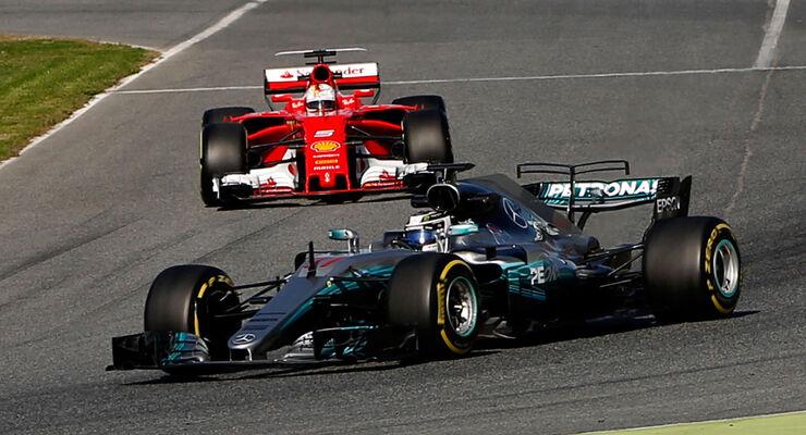 Bilanz der F1-Tests 2017: Mercedes vor Ferrari und Red Bull - auto ...